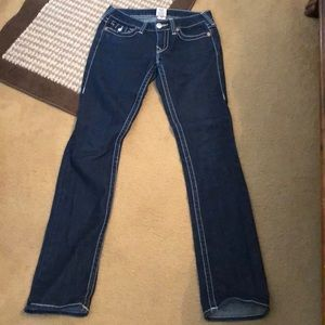 True Religion Dark Denim Billy Jeans 26x32